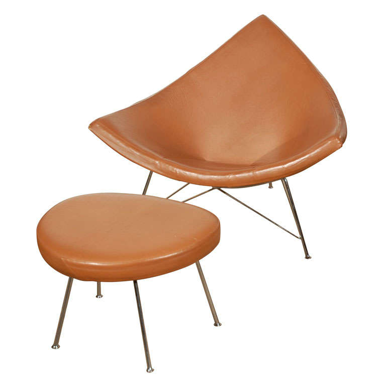 George Nelson Coconut Chair and Ottoman
