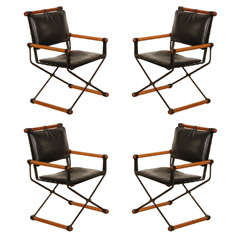 Set of 4 Cleo Baldon Campaign Chairs