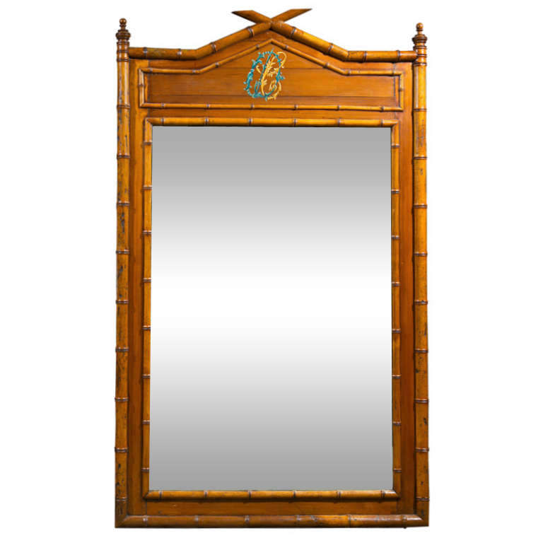 French Faux Bamboo Mirror C 1890 At 1stdibs
