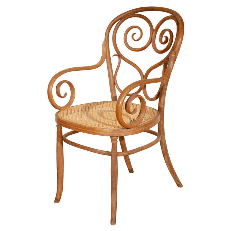 Thonet bentwood armchair at 1stdibs for Chaise bentwood
