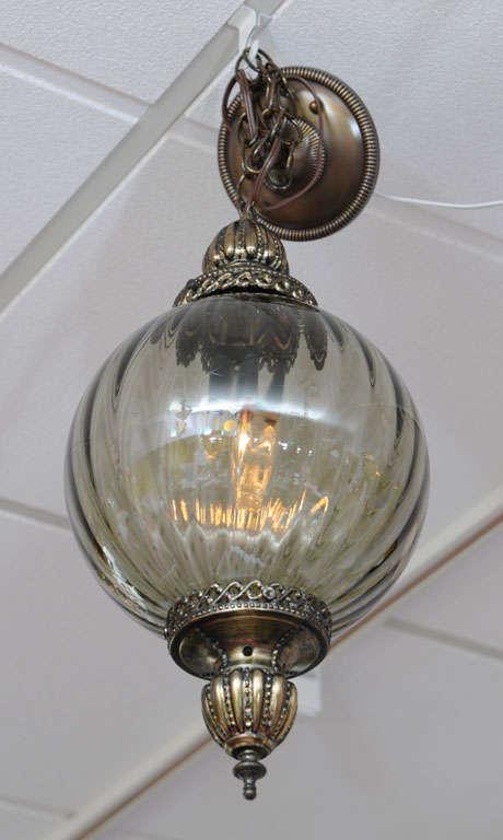 American MOVING SALE,MIAMI DESIGN DISTRICT,ceiling pendant,dove grey,restored,super elega For Sale