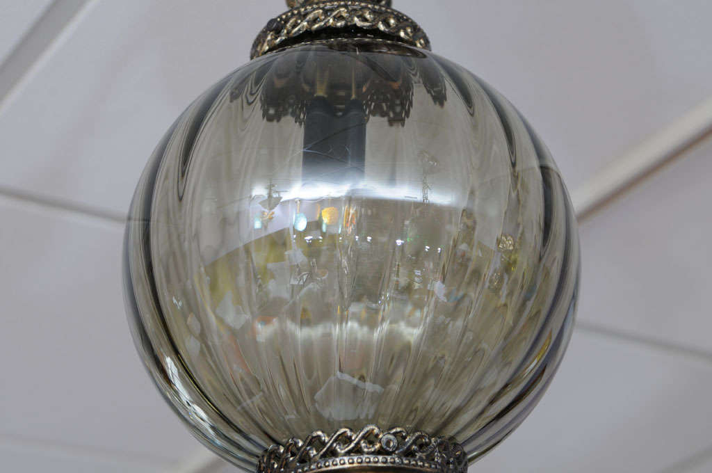 20th Century MOVING SALE,MIAMI DESIGN DISTRICT,ceiling pendant,dove grey,restored,super elega For Sale