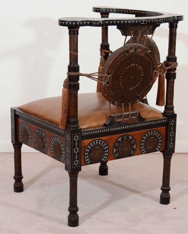 antique inlaid wood corner chair by carlo bugatti at 1stdibs