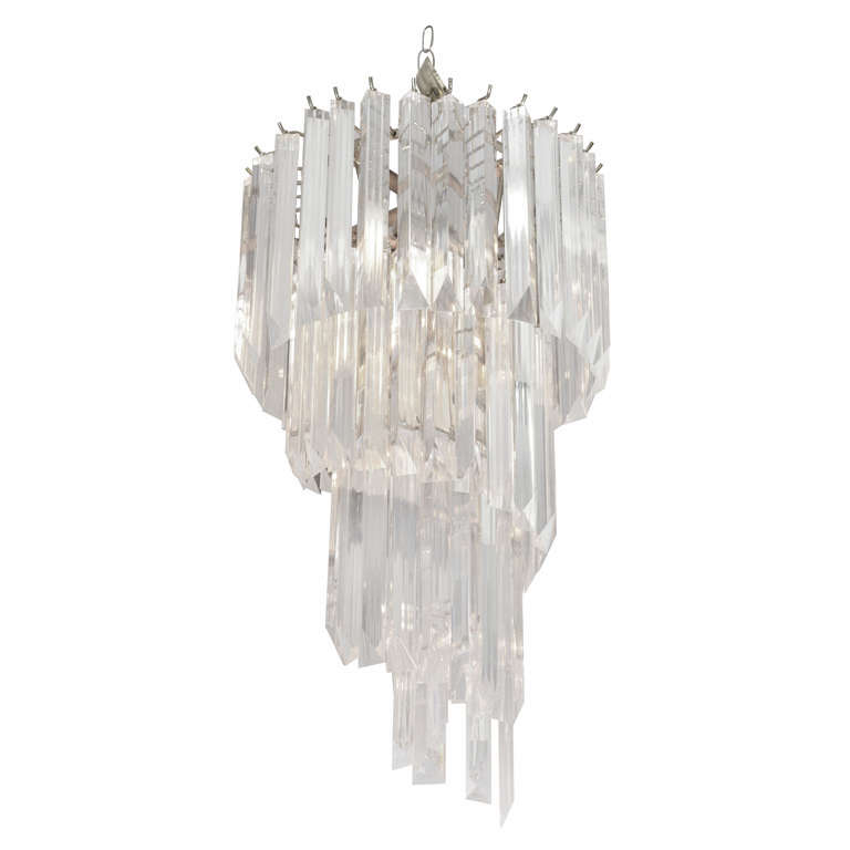 sciolari wall in chrome chandelier lamp lucite and