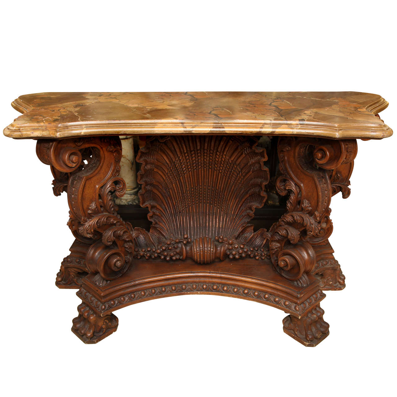 Italian rococo style shell motif console for sale at 1stdibs for Rococo style furniture