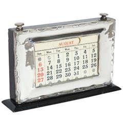 English Art Deco Sterling Silver Perpetual Calendar by W.J. Myatt & Co.