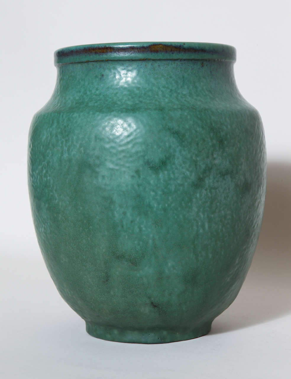 Emile Decoeur French Art Deco Green Stoneware Vase For Sale 3