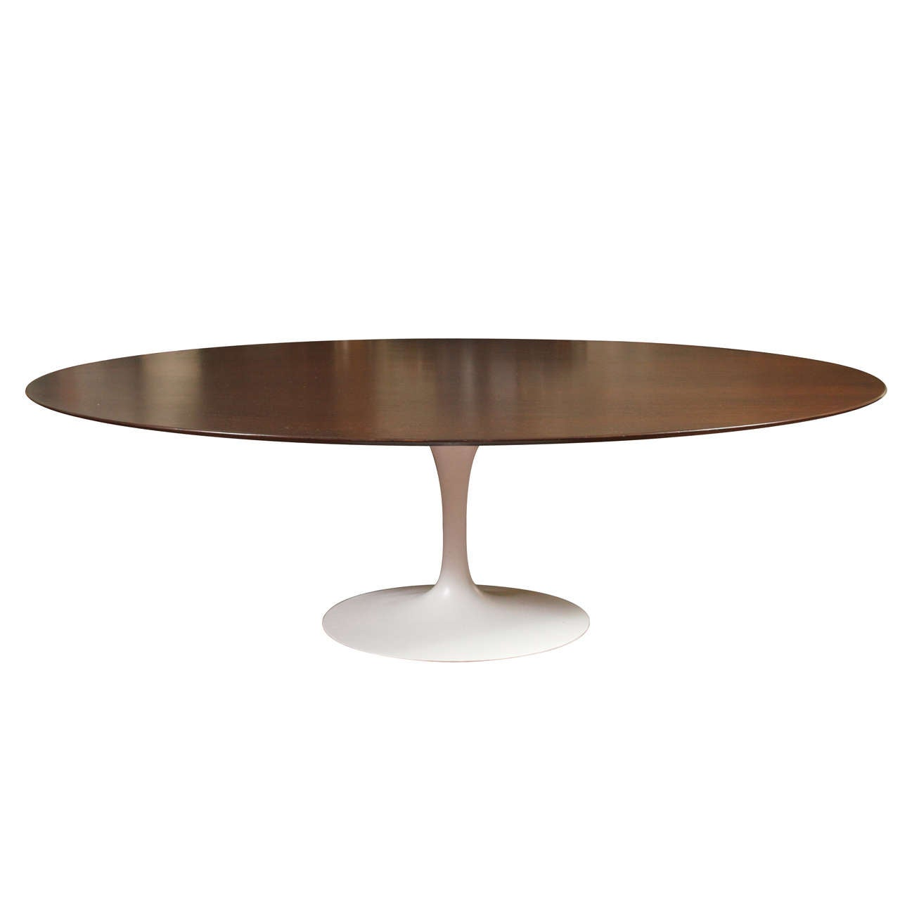 Knoll Associates Eero Saarinen Walnut Oval Dining Table At