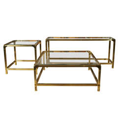 Mastercraft Brass Console Table
