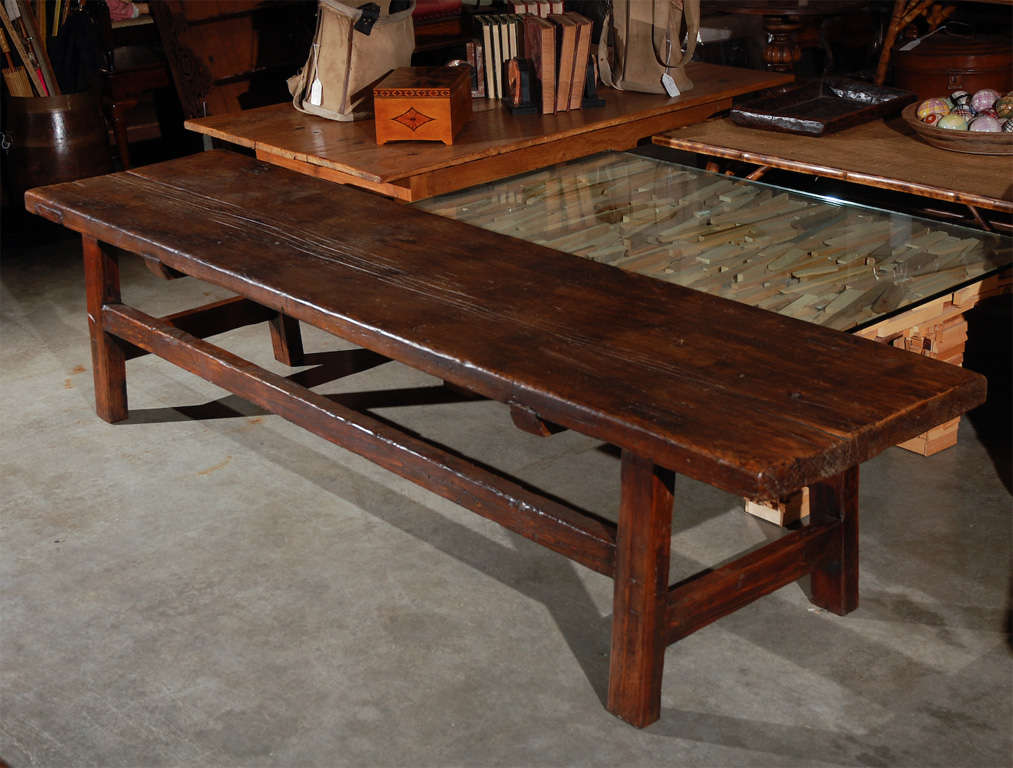 A Rectangular Country Style Coffee Table (or Bench If You Wish). It Has