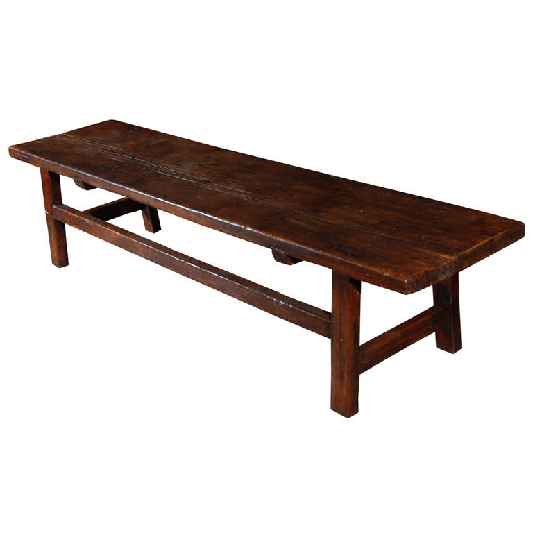 Country Coffee Table Bench At 1stdibs
