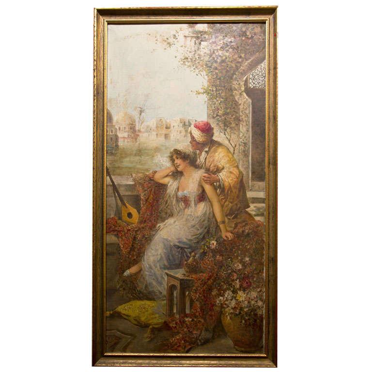 Orientalist Oil On Canvas 1