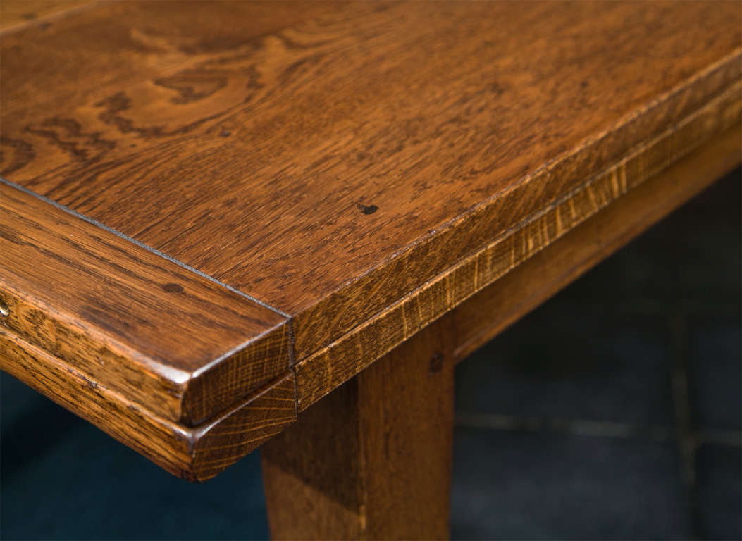 Custom English Oak Extension Table For Sale At 1stdibs