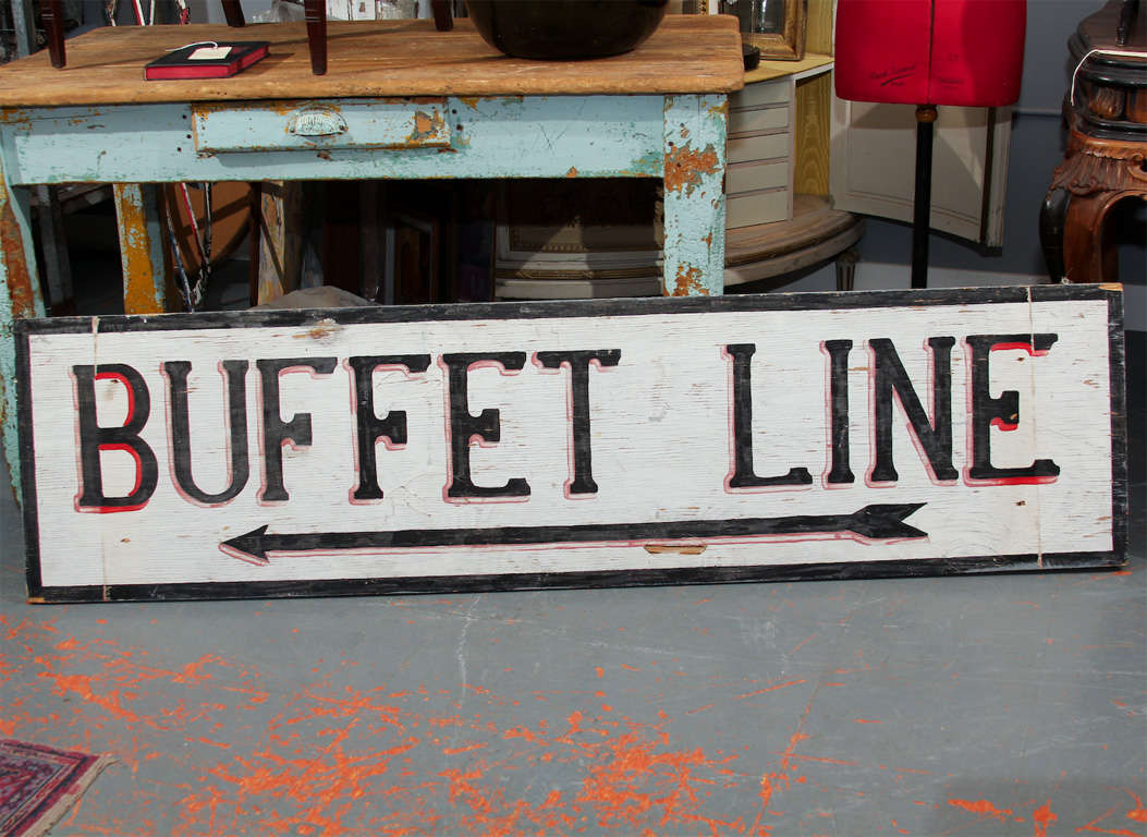 Large Hand-Painted Buffet Line Sign 2