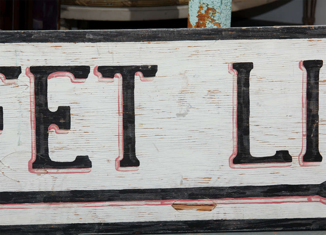 Large Hand-Painted Buffet Line Sign 4