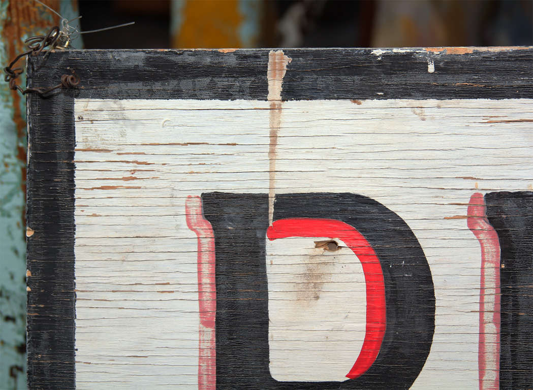 Large Hand-Painted Buffet Line Sign 6