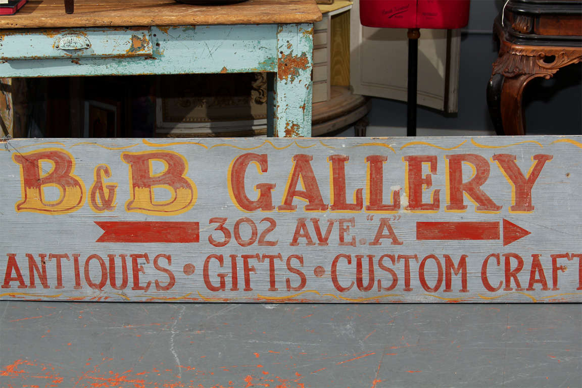Large Hand-Painted Buffet Line Sign 8