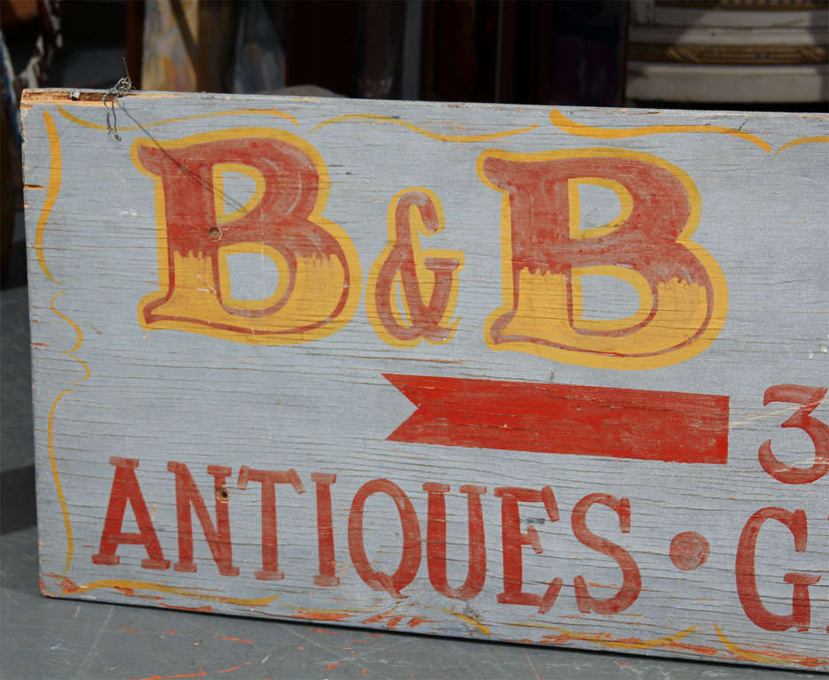 Large Hand-Painted Buffet Line Sign 9