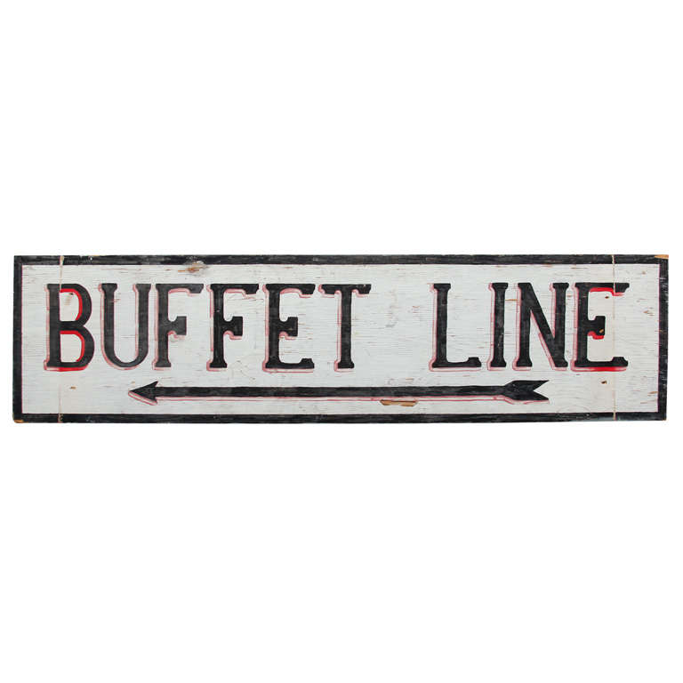 Large Hand-Painted Buffet Line Sign 1