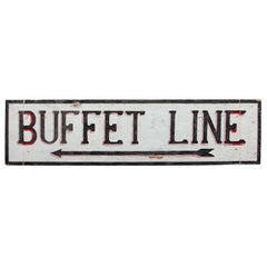 Large Hand-Painted Buffet Line Sign