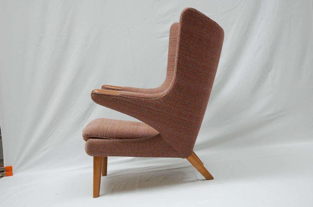 Oak Hans Wegner Papa Bear Chair For Sale