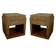Shagreen Side Tables Night Stands, France