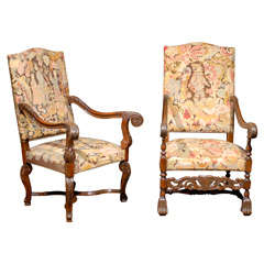 European His and Her Armchairs