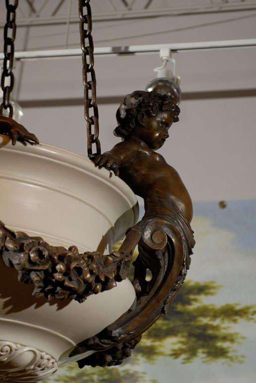 Cherub Chandelier  In Excellent Condition For Sale In Atlanta, GA