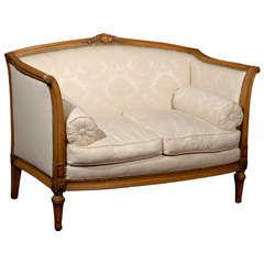 Crimson velvet camel back sofa at 1stdibs - Canape cognac ...