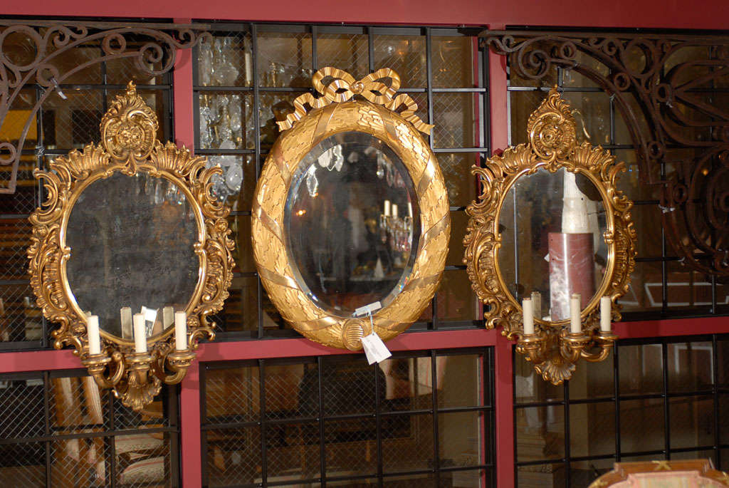 Pair of mirrored sconces For Sale 5