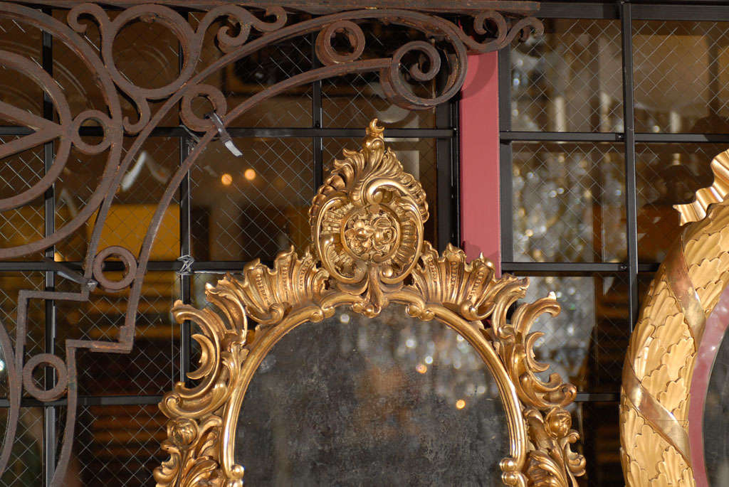 French Pair of mirrored sconces For Sale
