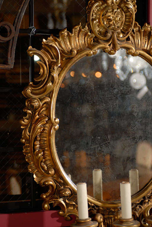 Mirror Pair of mirrored sconces For Sale