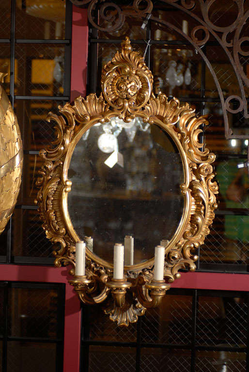 Pair of mirrored sconces For Sale 2