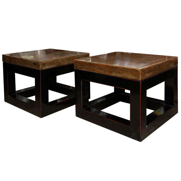 Granite Top Square Coffee Table: Square Stone Top Coffee Table At 1stdibs