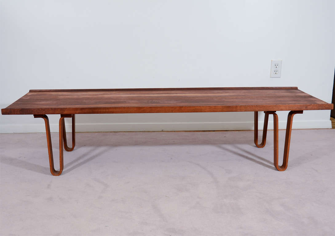 Mid Century Dunbar Bench Or Table With Hairpin Legs At 1stdibs