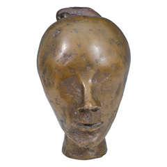 Vintage Bronze Female Bust