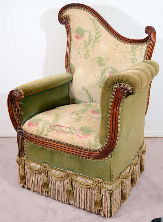 Pair of Vintage Art Deco Style Parlor Chairs 2