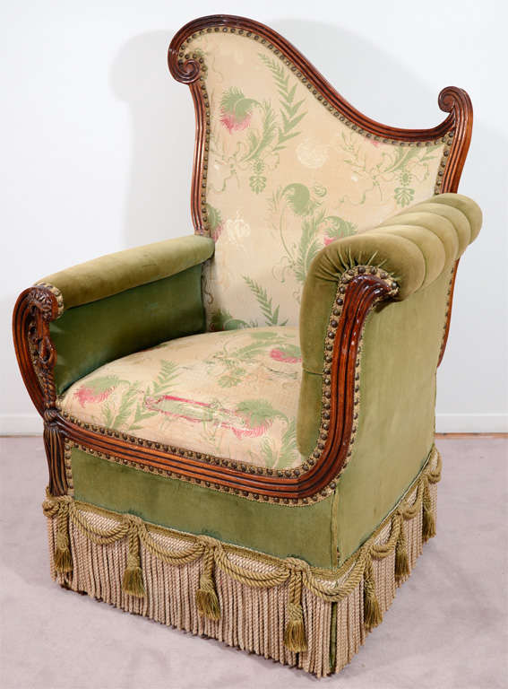 Pair of Vintage Art Deco Style Parlor Chairs 3