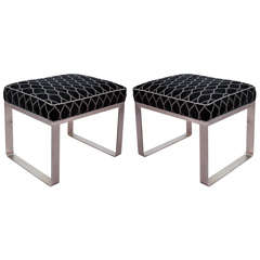Pair of Mid Century Milo Baughman for Pace Stools / Benches