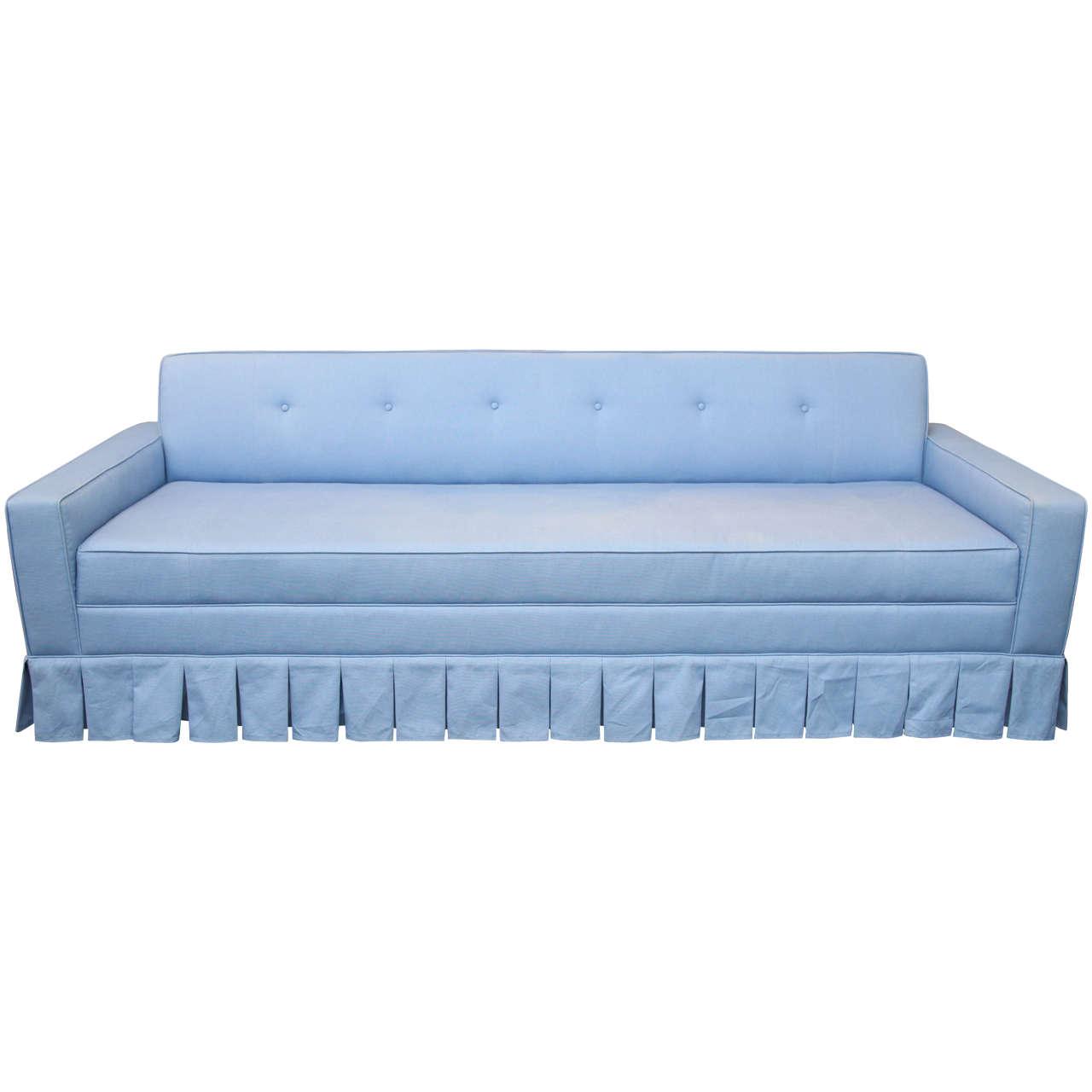 Midcentury Low Tufted Sofa
