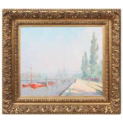 Oswald Poreau Oil Painting, 1926