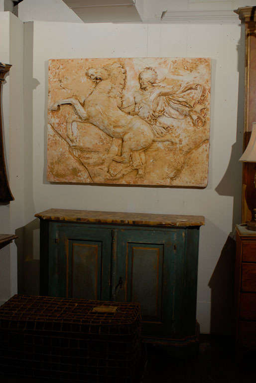 Rider and His Horse Plaster Wall Decoration by Harold Studio