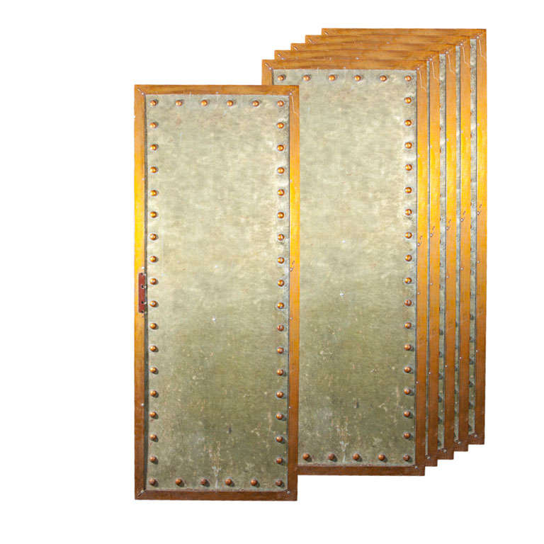 Five Studded Metal Panels 1
