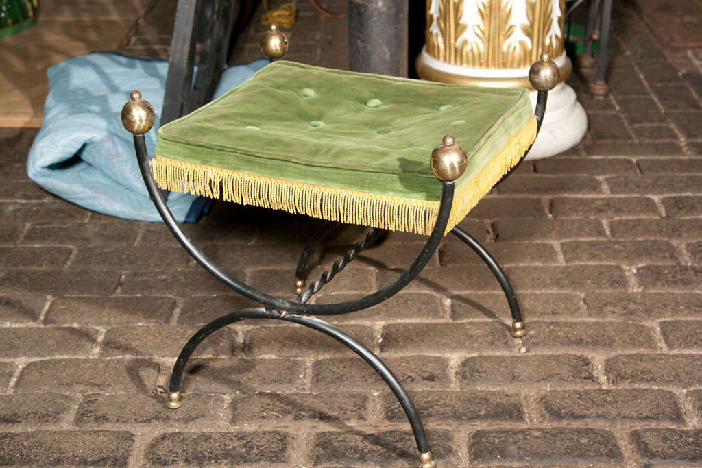 French Metal Bench In Good Condition For Sale In Stamford, CT