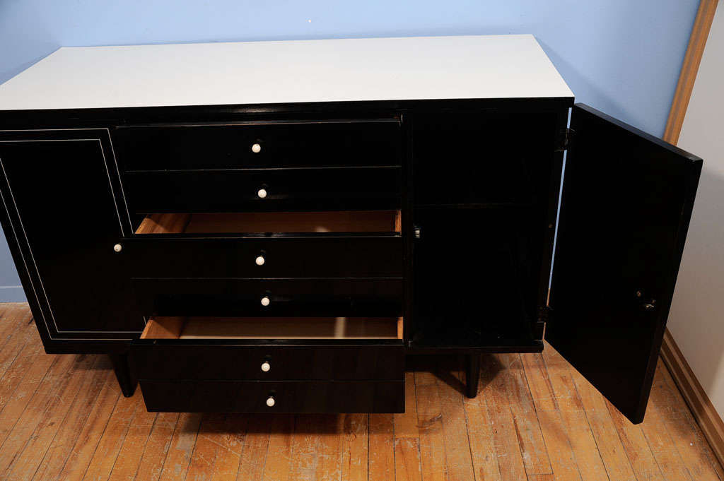 Lacquered Junior Buffet By American Of Martinsville At 1stdibs