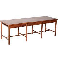 Danish Walnut Console Table