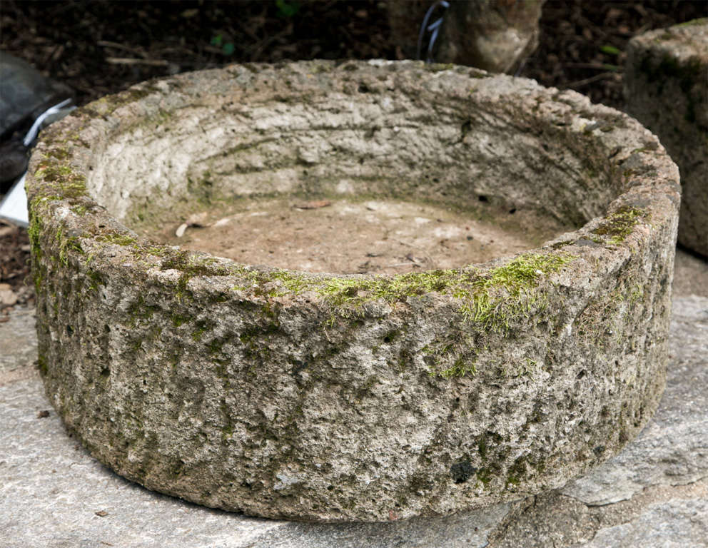 Stone Trough Sink : Mossy Cast Stone Trough/Sink at 1stdibs