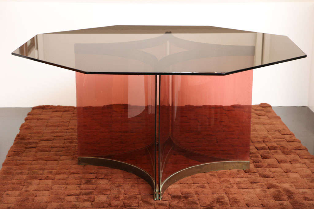 Italian Albrizzi Octagonal Dining Table For Sale