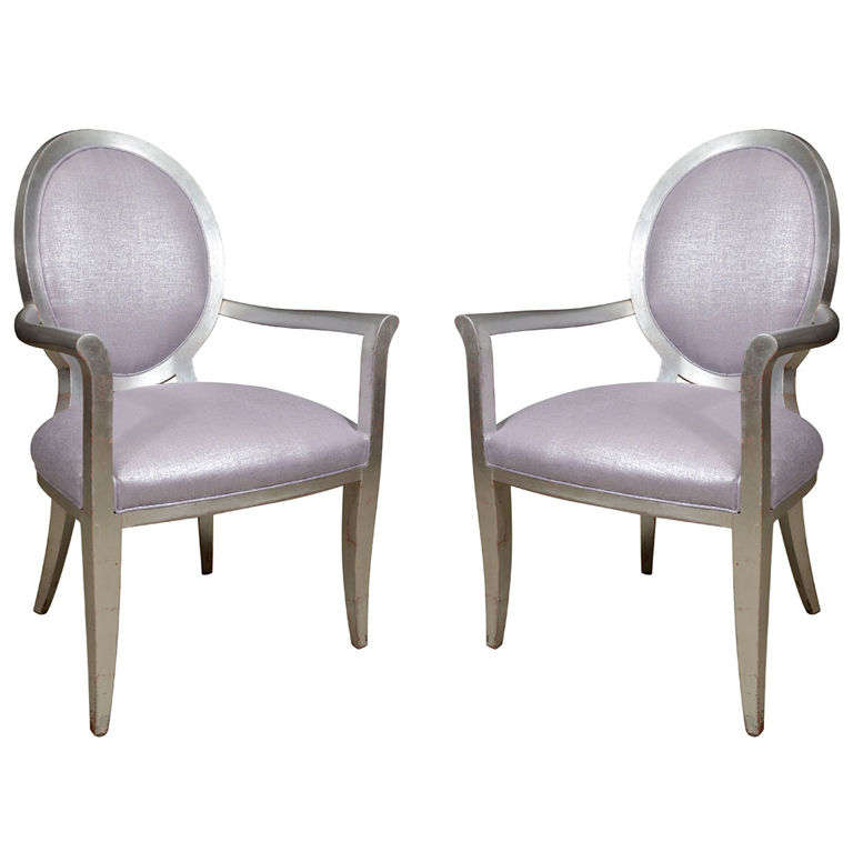 Pair of Louis XVI Style Armchairs 1