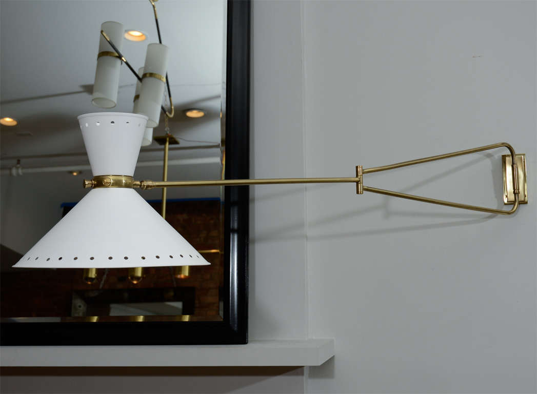 Large Lunel Sconces with Metal Shades For Sale at 1stdibs